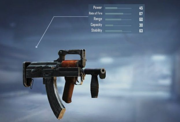 Groza with its stats