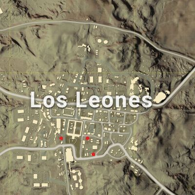 The red dots indicate the probable locations of vending machine in Los Leones