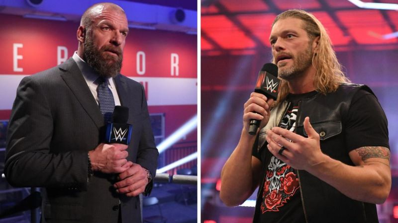 Triple H (left); Edge (right)