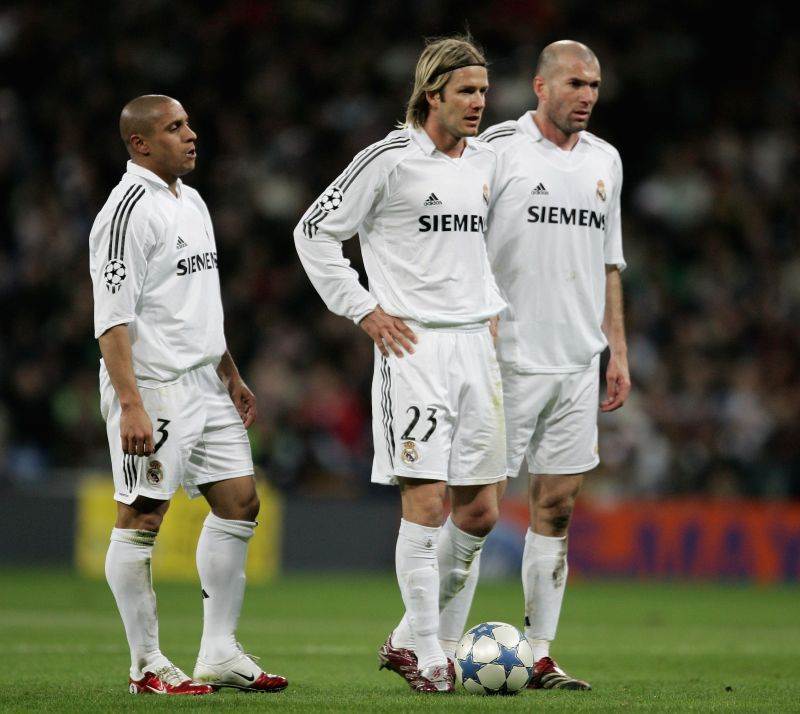 Beckham and Zinedine Zidane shared the pitch for Real Madrid