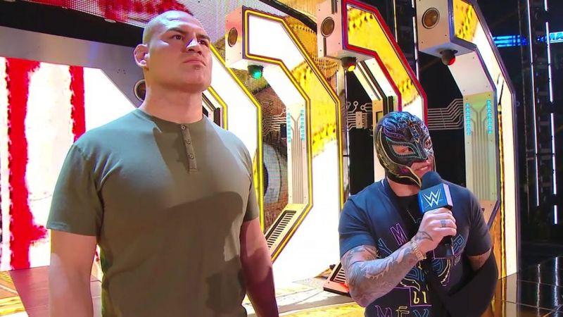 Cain Velasquez and Rey Mysterio