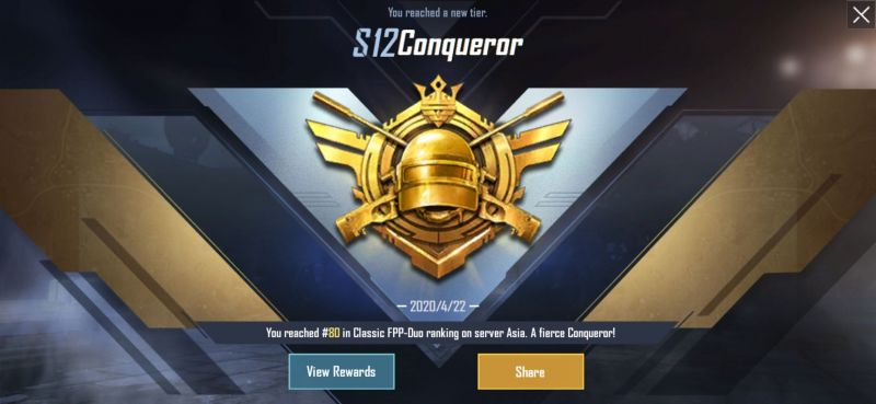 Push Conqueror In Solo In Season 13