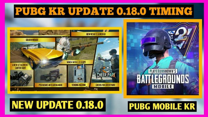 PUBG Mobile Kr Update 0.18.0 Date and Time