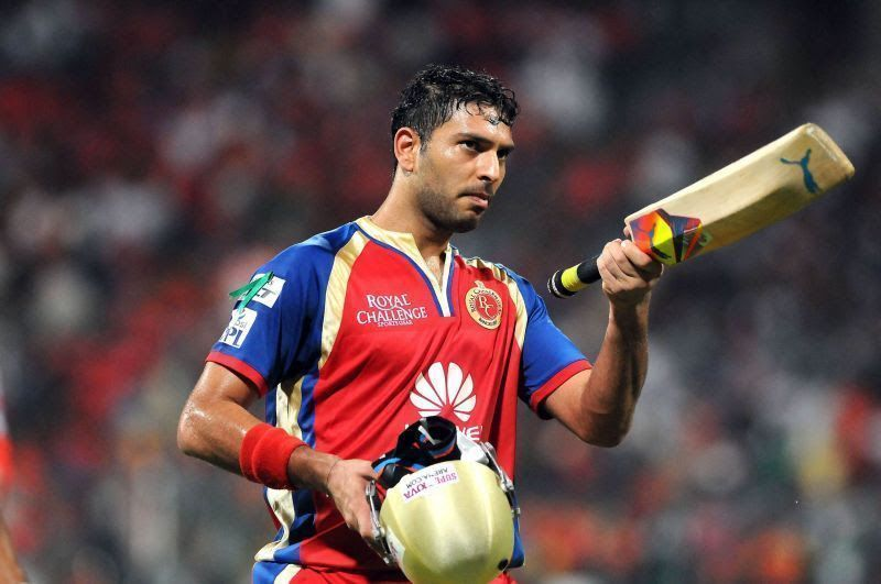 Yuvraj Singh smashed nine sixes for Royal Challengers Bangalore in IPL 2014.