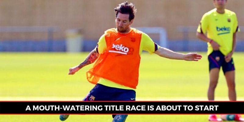Lionel Messi trains as Barcelona prepare for the La Liga restart