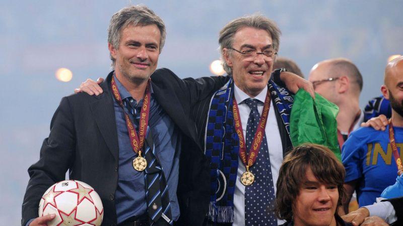 Jose Mourinho and Massimo Moratti - cropped