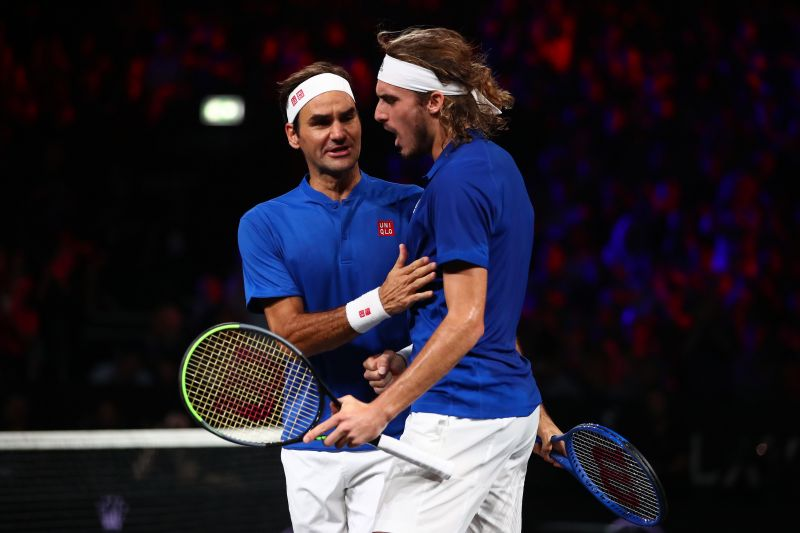 Roger Federer and Stefanos Tsitsipas lost their doubles encounter