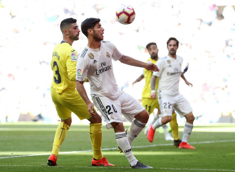 Asensio in action against Villarreal in May last year, during one of his most recent La Liga appeaances