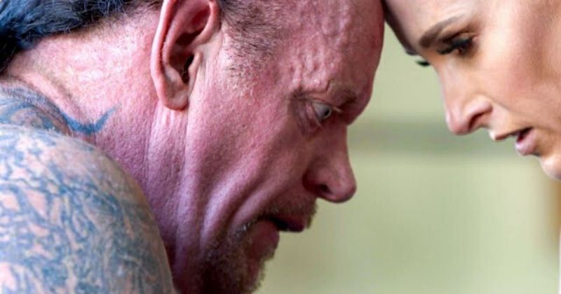 Undertaker and Michelle McCool.