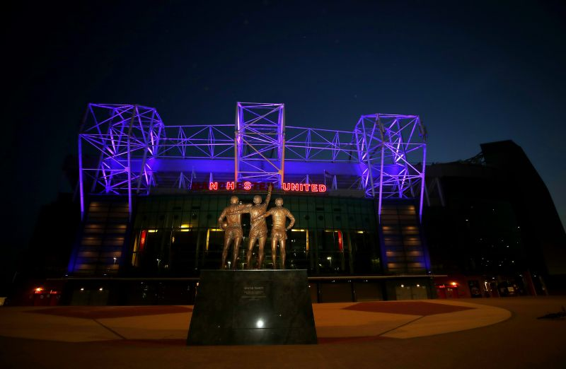 Old Trafford displaying NHS United