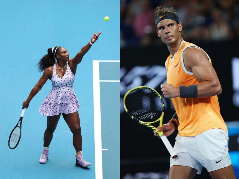 Serena Williams (L) and Rafael Nadal