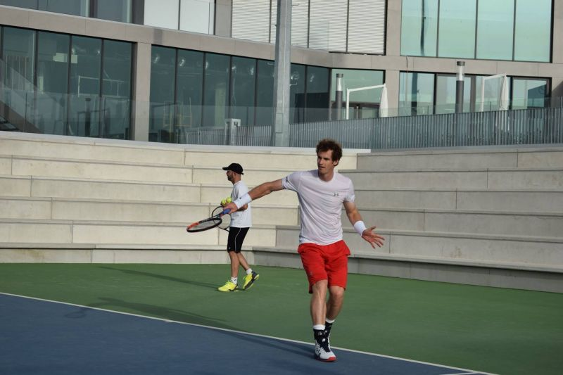 Andy Murray at the Rafa Nadal Academy in 2016