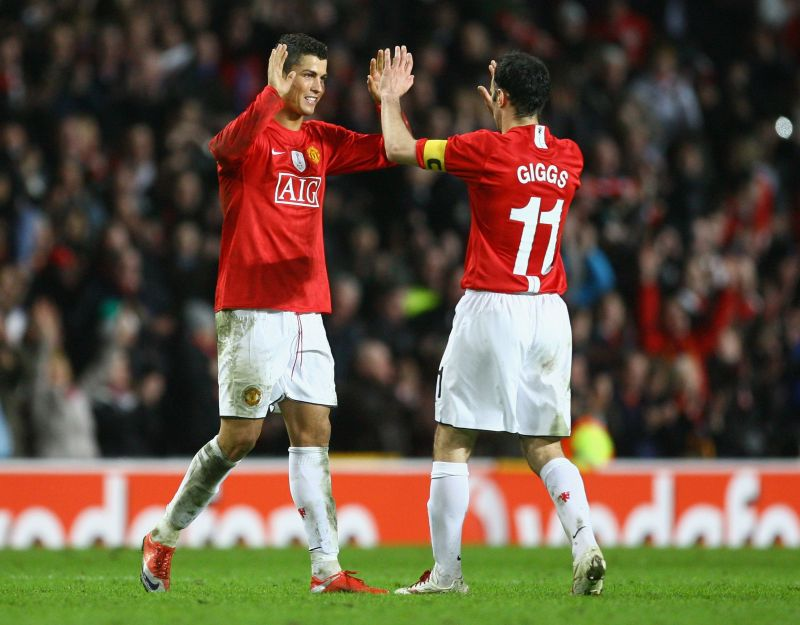 Ryan Giggs and Cristiano Ronaldo won three league titles together at Manchester United.