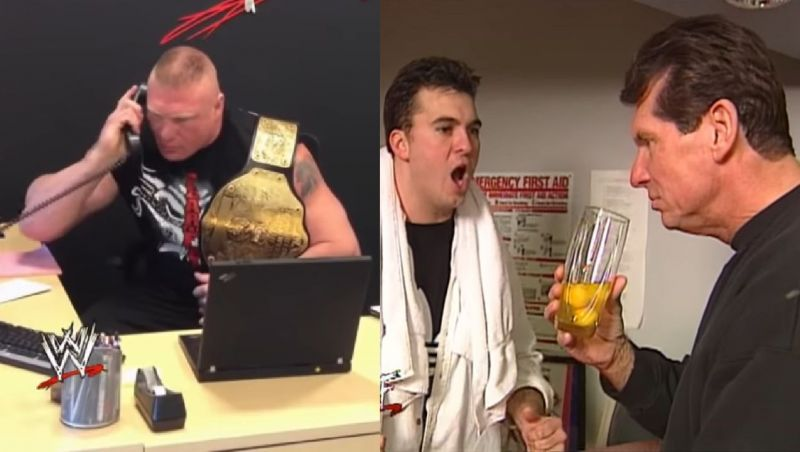 Lesnar and the McMahons