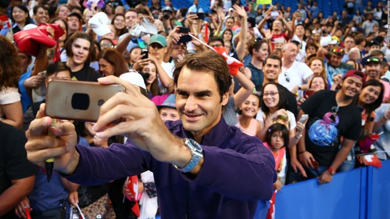 Roger Federer is a master at spreading happiness