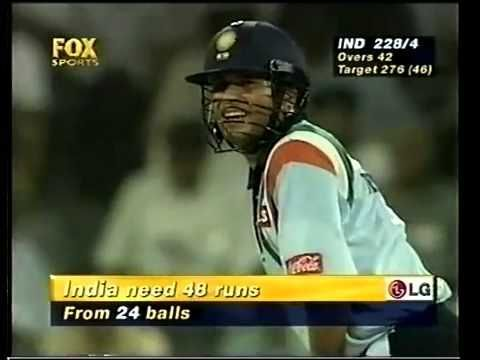 Sachin Tendulkar ran 77 runs out of the 143 he scored
