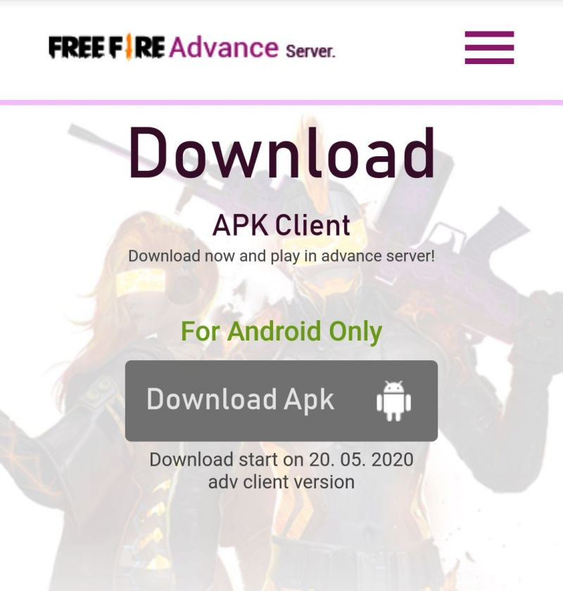 Download Free Fire OB22 Advance Server
