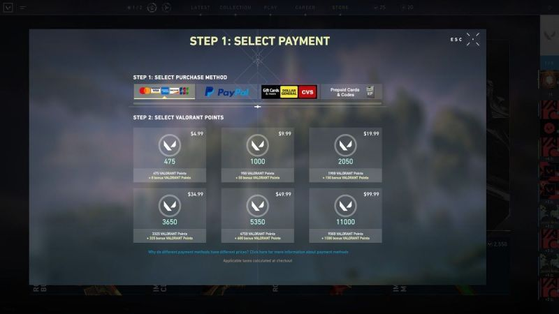 The VP microtransactions (pic courtesy: Polygon)