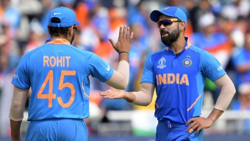 Rohit Sharma (L) has led the Indian cricket team in a handful of matches