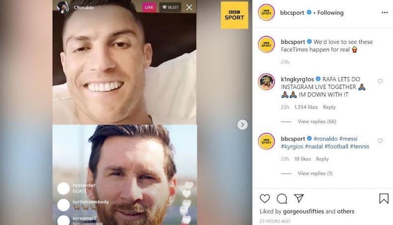 Nick Kyrgios invites Rafael Nadal to do an Instagram Live