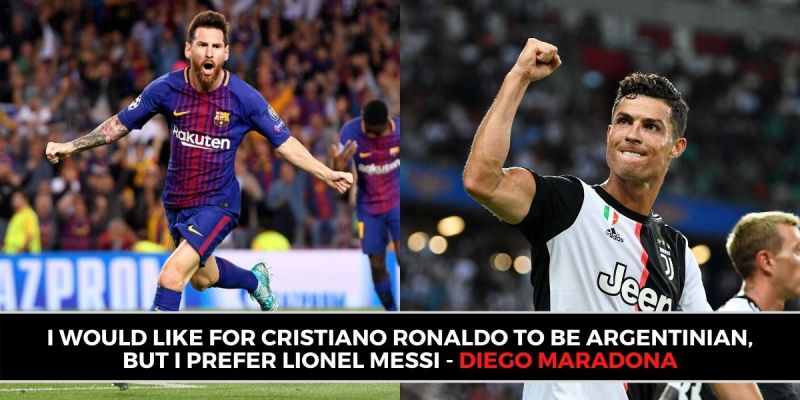 Diego Maradona discussed Cristiano Ronaldo and Lionel Messi in a candid interview