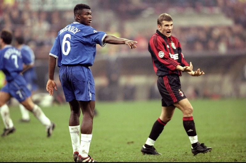 Marcel Desailly and Andriy Shevchenko