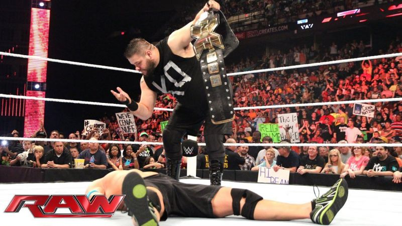 Owens laid out Cena during his RAW debut