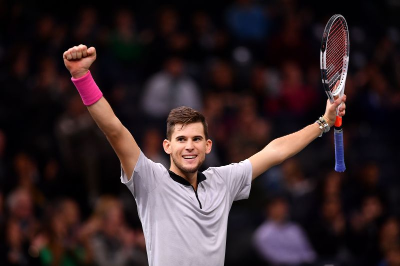 Dominic Thiem is at the third position in the ATP rankings