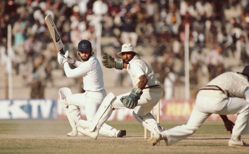1985 की सीरीज के दौरान इंग्लैंड के खिलाफ सैय्यद किरमानी