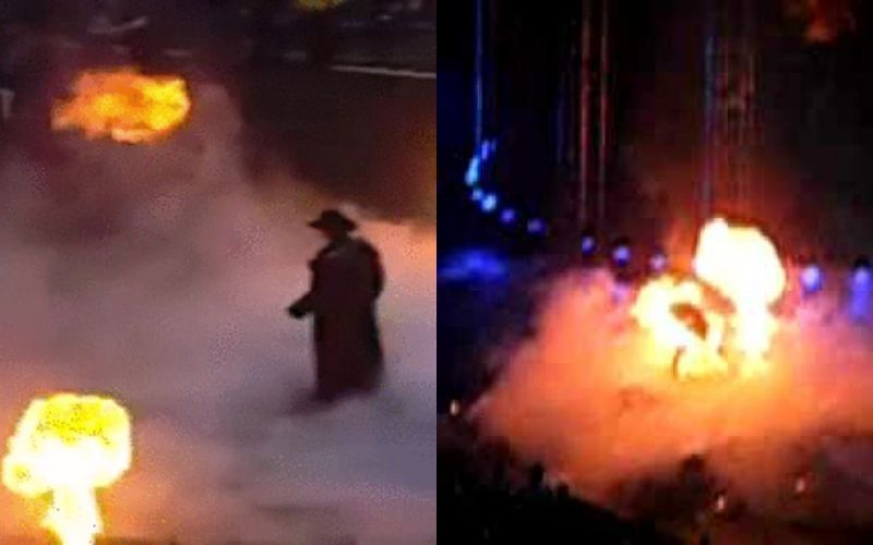 Only The Undertaker could no-sell fire