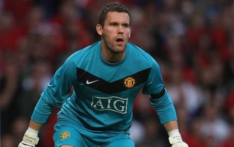 Ben Foster in goal for Manchester United