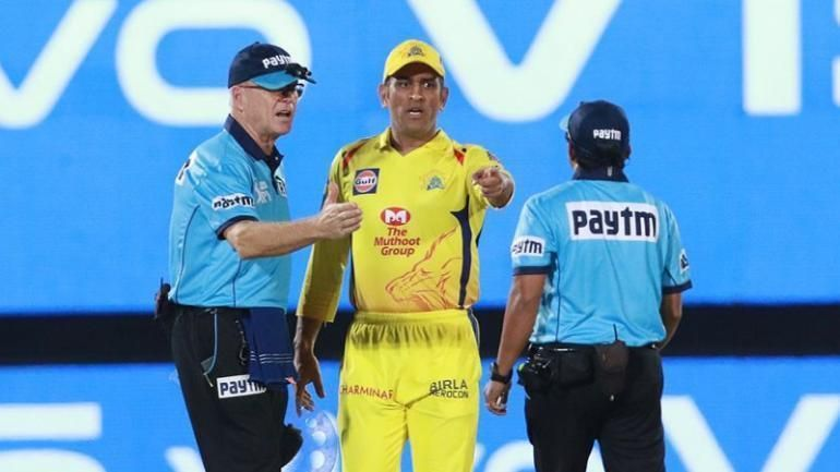 MS Dhoni stormed out to the middle in CSK