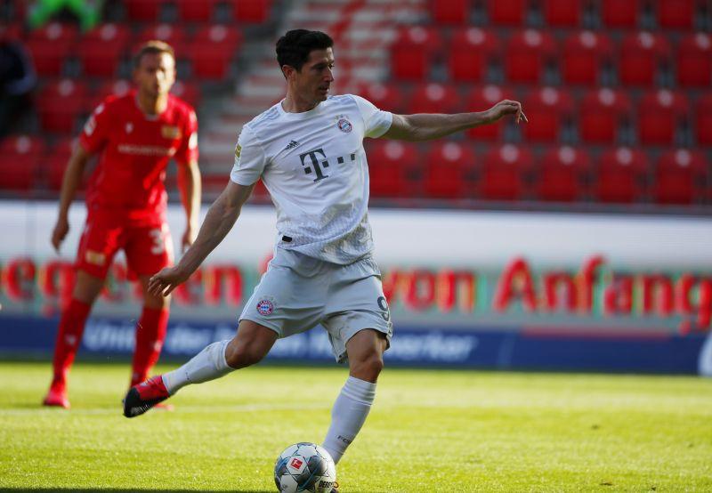 Bayern Munich striker Robert Lewandowski scored in the club