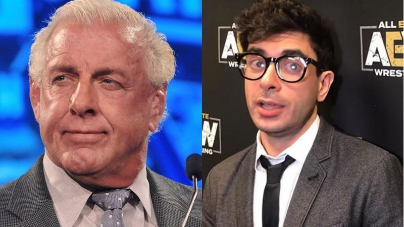 Ric Flair and AEW President Tony Khan