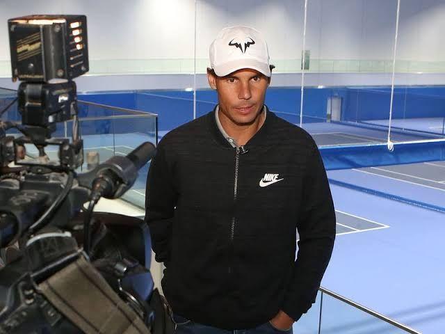 Rafael Nadal at his Academy in Mallorca