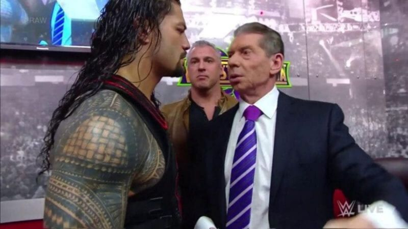 Vince McMahon on RAW in 2018