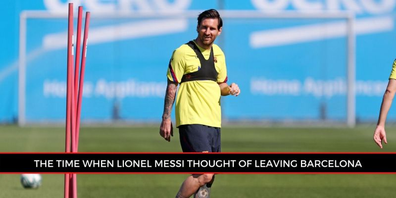 Lionel Messi during a recent training session