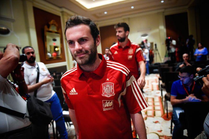 Juan Mata with the Spanish national team