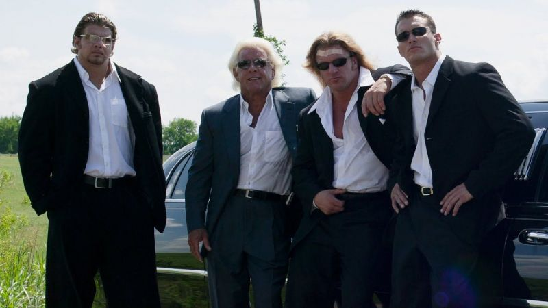 Mark Jindrak (far left) with the rest of the Evolution faction