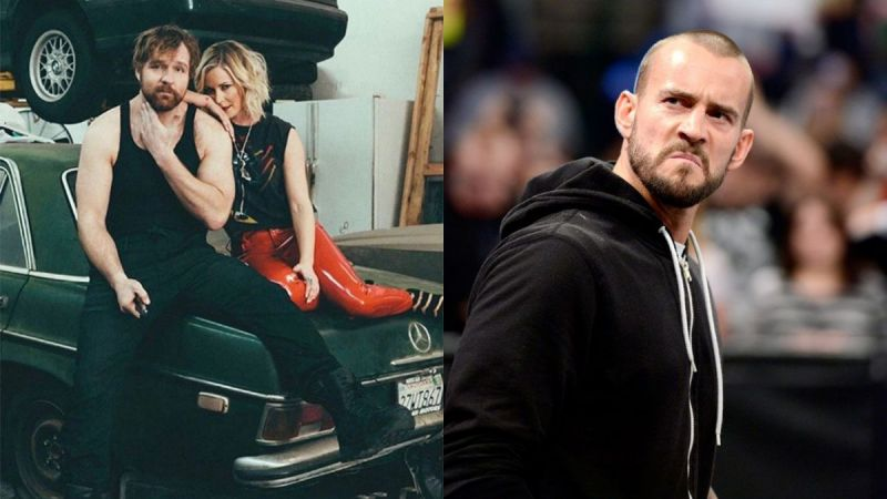 Jon Moxley, Renee Young, and CM Punk