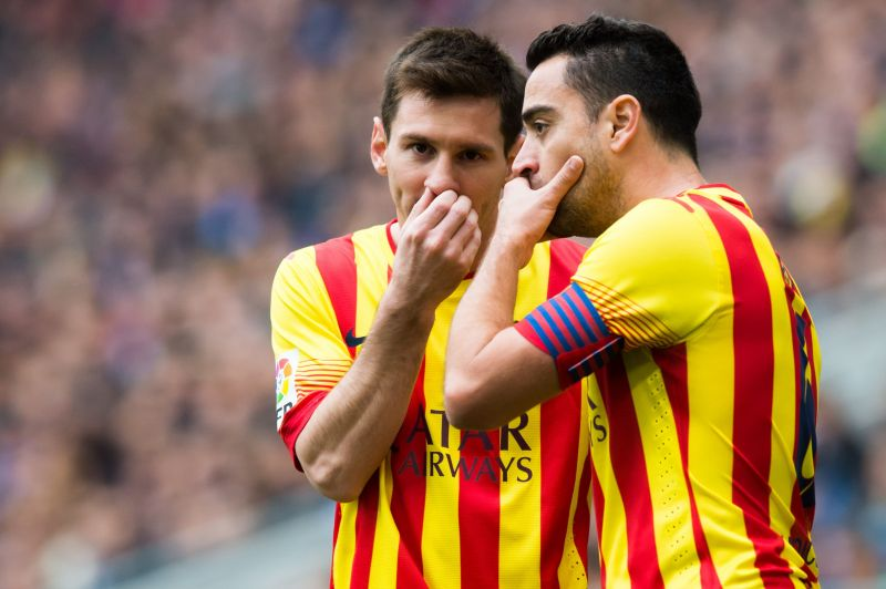 Xavi and Messi often terrorised goalkeepers with their exceptional dead-ball skills