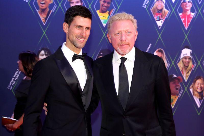 Novak Djokovic won 6 Grand Slam titles under the guidance of Boris Becker