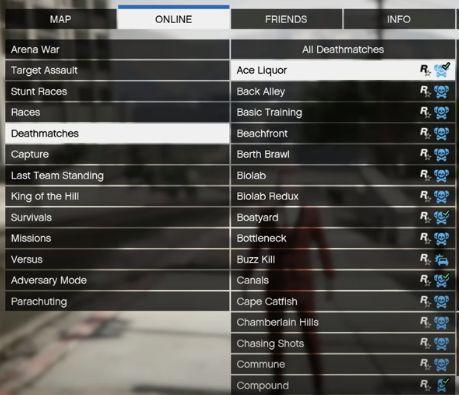 Select deathmatch