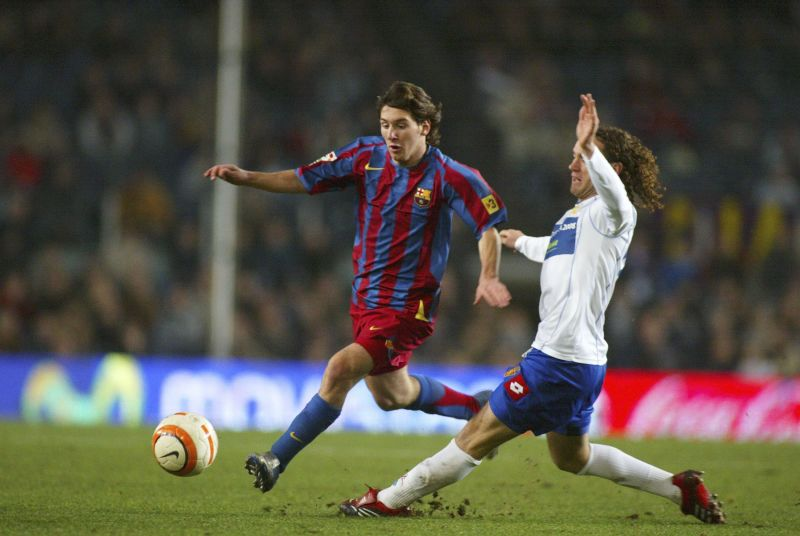 Lionel Messi scored a stunning goal against Real Zaragoza to announce his presence.