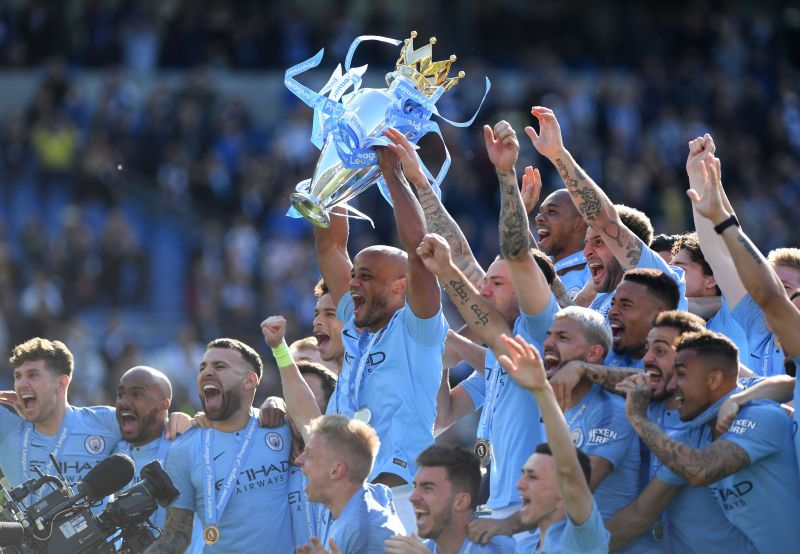 Vincent Kompany captained Manchester City to 4 Premier League titles during his time at the club