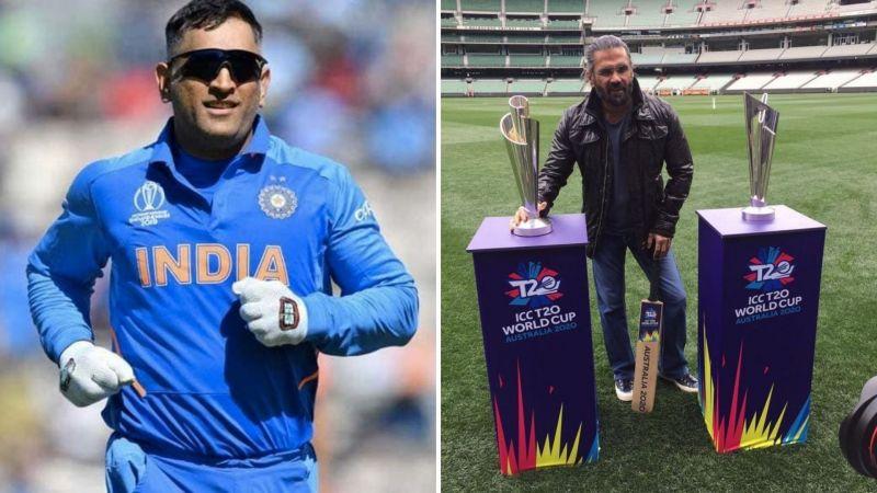 Suniel Shetty (R) feels MS Dhoni will play the World T20
