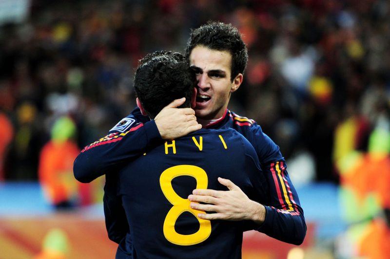 Fàbregas and Xavi for Spain