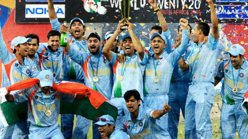 A young, inexperienced Indian team went on to win the inaugural edition of the T20 World Cup in 2007.