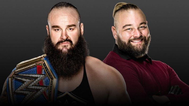 WWE Universal Champion Braun Strowman and his challenger Bray Wyatt