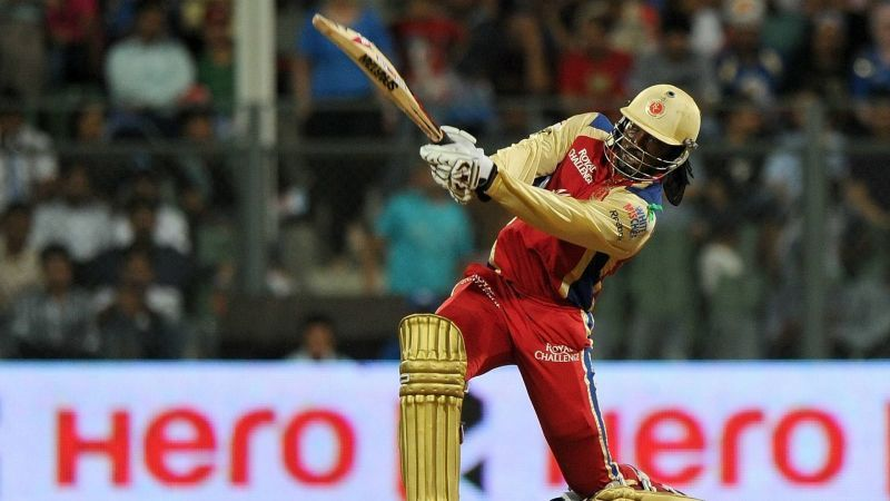 Chris Gayle has hit the most sixes in an IPL innings.